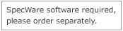 SpecWare software required, please order separatel