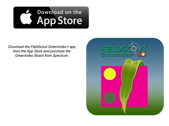 FieldScout GreenIndex+ Nitrogen App and   Spectrum Technologies